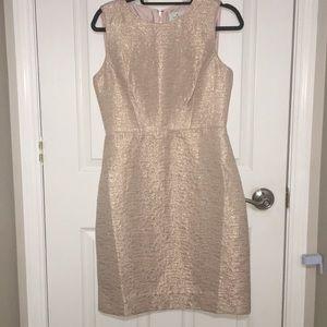 Kate Spade Rose Gold Metallic Blush Dress